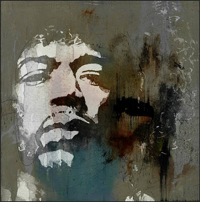 Jimi Hendrix Painting - All Along The Watchtower  by Paul Lovering
