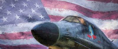 All American Bomber Art Print by JC Findley