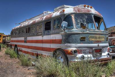 Vandalize Photograph - All American Bus by Thomas Todd