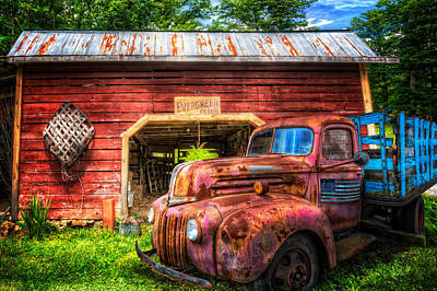 Old Pickup Photograph - All American Ford by Debra and Dave Vanderlaan