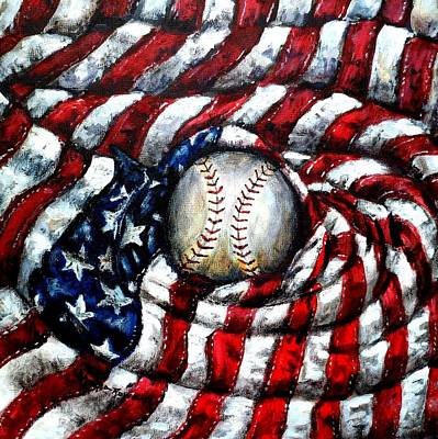 Star Spangled Banner Painting - All American by Shana Rowe Jackson