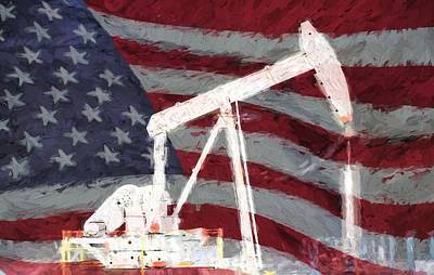 Oil Pumper Photograph - All American Oil Pump Jack by JC Findley