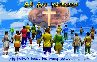 Digital Art - All Are Welcome by Bob Shimer