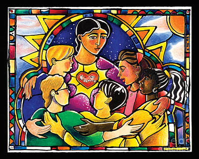 Holy Trinity Icon Painting - All Are Welcome - Mmaaw by Br Mickey McGrath OSFS