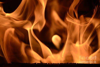 Reduction-fired Photograph - All-at845895 - Fire Cry by Karl Thomas