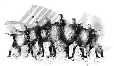 Digital Art - All Blacks Haka by Marlene Watson