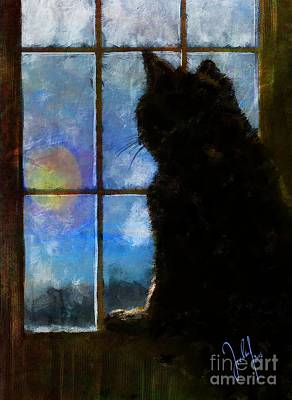 Wall Art - Digital Art - All Cats Are Grey By Night by Georg Ireland