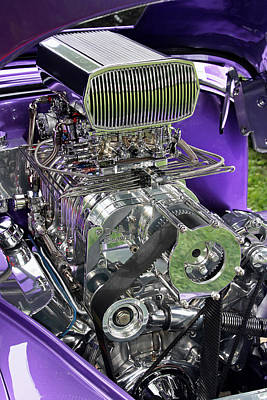 Photograph - All Chromed Engine With Blower by Bob Slitzan