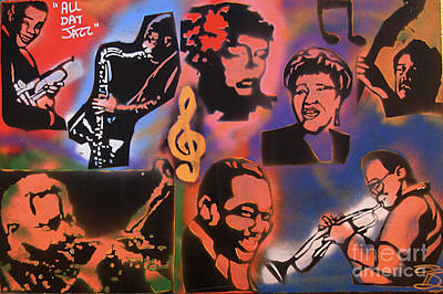 Music Paintings - All Dat Jazz by Tony B Conscious