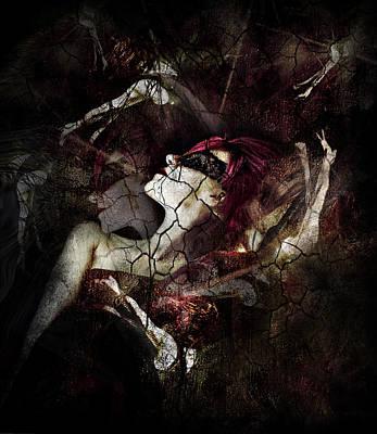 Abuse Mixed Media - All Dolls Get Broken by Spokenin RED