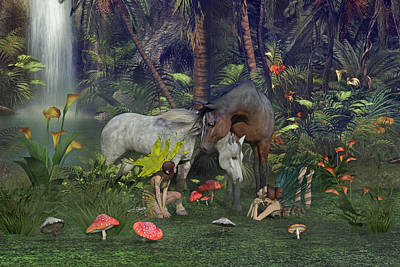 Lilies Digital Art - All Dreams are Possible by Betsy Knapp