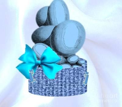 Digital Art - All Dressed In Blue by Belinda Threeths