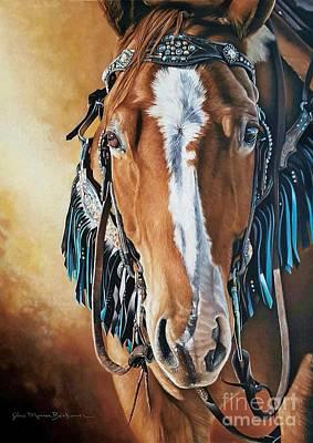 Western Pleasure Horse Pastel - All Dressed Up by Joni Beinborn