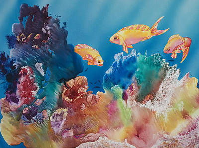 Sealife Art Painting - All Dressed Up by Tanya L Haynes - Printscapes