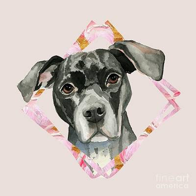 Watercolor Pet Portraits Mixed Media - All Ears 2 by NamiBear