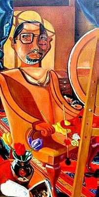 Painting - All Ego Re   The Joy Of Painting by David G Wilson