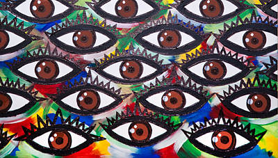 Painting - All Eyes On Me by Aliya Michelle