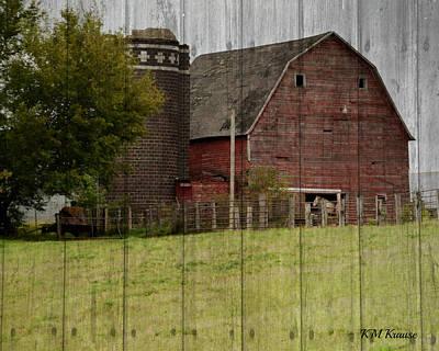 Barnyard Digital Art - All Fenced In by Kathy M Krause