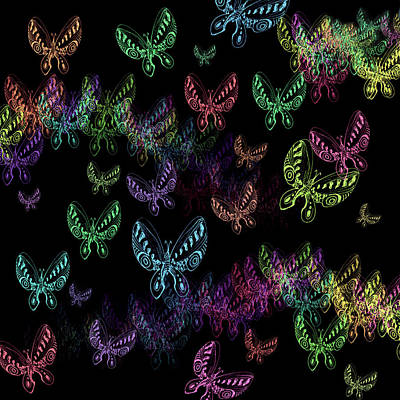 Digital Art - All Fluttery by Adria Trail