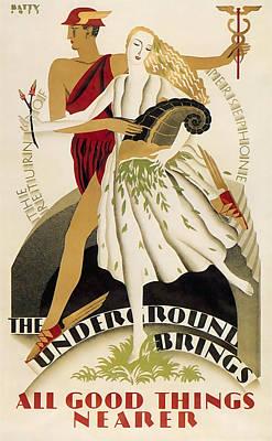 All Good Things Nearer By London Underground 1933 Art Print by Daniel Hagerman
