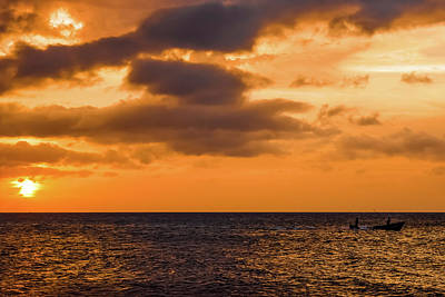 Jamaican Sunset Photograph - All In A Day's Work by Debbie Ann Powell