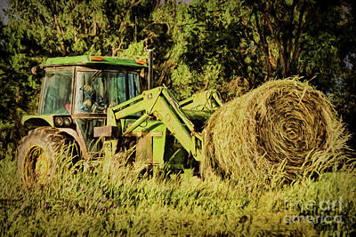 Yield Painting - All In A Deere's Work by Janice Rae Pariza