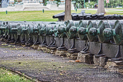 Photograph - Canons All In A Row by Roberta Byram