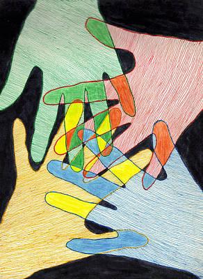 All In Art Print by Jean Haynes