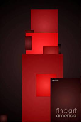 Digital Art - All In Red by Rafael Salazar