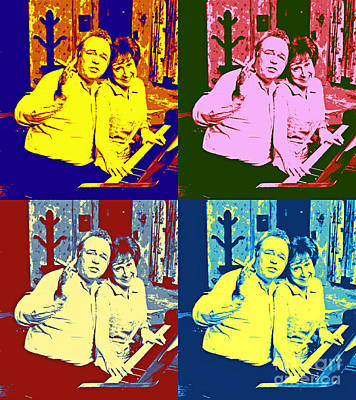 Archie Bunker Painting - All In The Family Pop Art by Pd