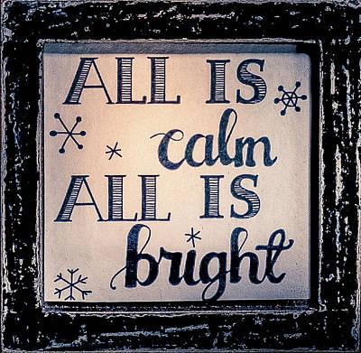All Is Calm Art Print