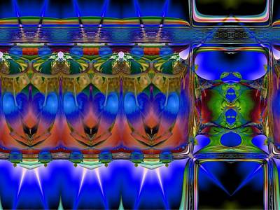 Digital Art - All Lined Up. by Nancy Pauling