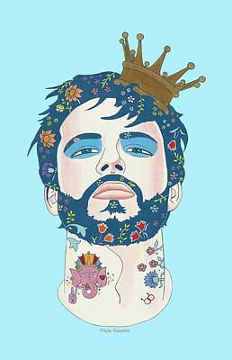 Queer Drawing - All Men Are Kings  by Vilela Valentin