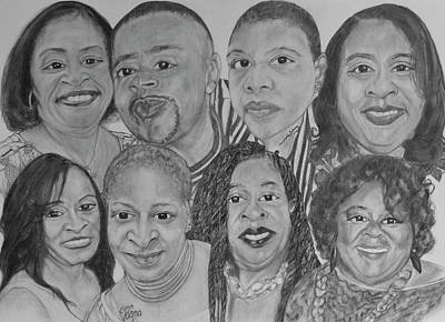 Drawing - All Of Us by Michelle Gilmore