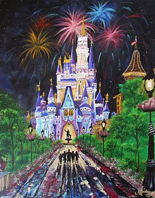 Fireworks Painting - All Our Dreams Can Come True by Mandy Joy