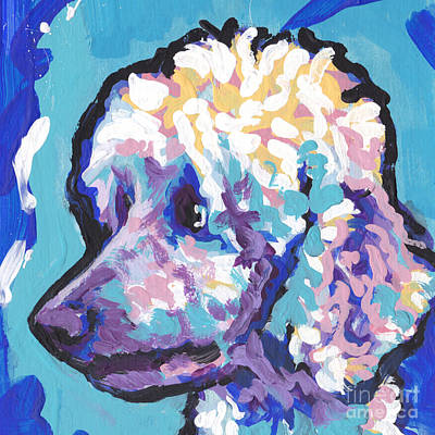 Standard Painting - All Poodle by Lea S