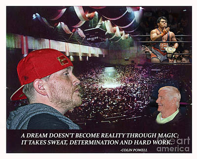 Digital Art - All Pro Wrestling Promoter And Producer Markus Mac by Jim Fitzpatrick