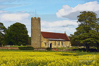 All Saints Frostenden. Art Print by Stan Pritchard