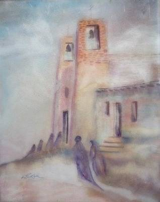 Lynn Burton Painting - All Saints Mission by Lynn Burton