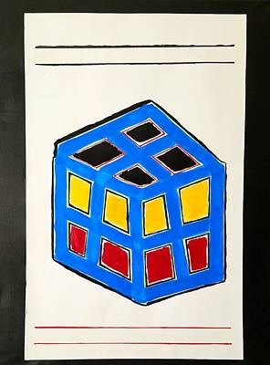Etc. Painting - All Squares Are Beautiful #2 by Earnestine Clay