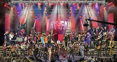 Steven Tyler Digital Art - All Star Jam by Don Olea