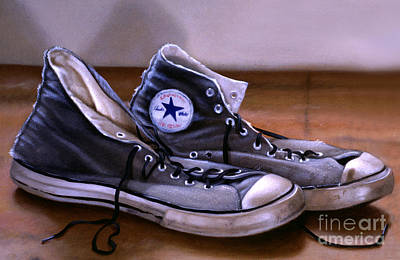 Sneakers Painting - All Stars by Lawrence Preston