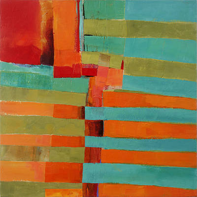 Abstracted Painting - All Stripes 2 by Jane Davies