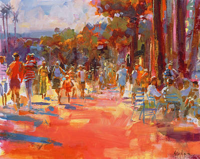 Hot Weather Painting - All Summer In A Day by Peter Graham