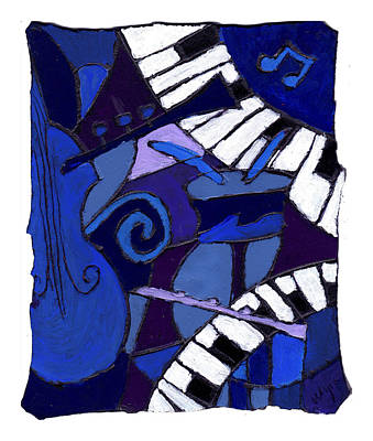 Painting - All That Jazz 3 by Wayne Potrafka