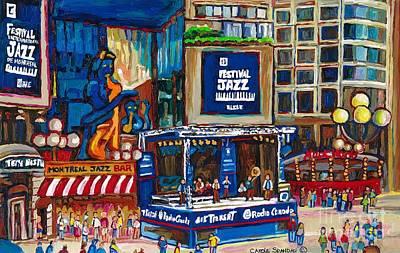 Street Muscians Wall Art - Painting - All That Jazz by Carole Spandau