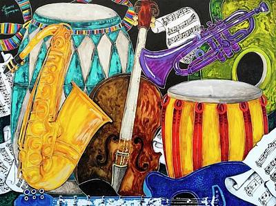 All That Jazz Painting - All That Jazz by Elizabeth Huffmaster
