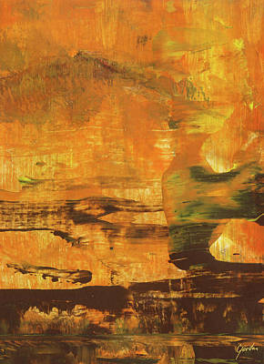 Painting - All That You Can Be - Warm Orange Spiritual Abstract Art Painting by Modern Art Prints