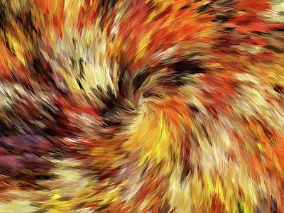 All The Colors Of An Autumn Day Abstract Art Print