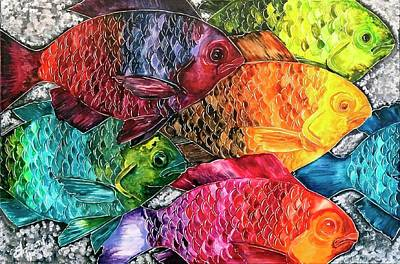All The Fish Original by Elizabeth Huffmaster